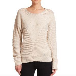 Wildfox Tan Flecked Oversize Sweater